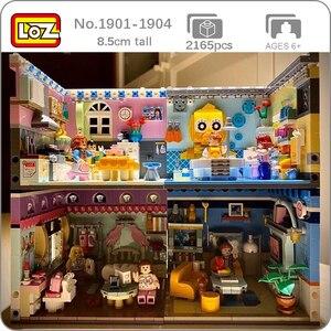 LOZ City Street House, угловая душевая кабина, гостиная, спальня, кухня, 3D модель, сделай сам, мини блоки, кирпичи, строительные игрушки для детей, без к...