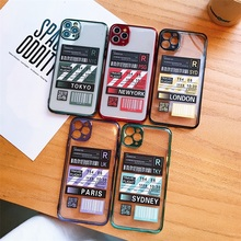 Luxury Air Ticket Boarding Pass Label Plating Phone Case For