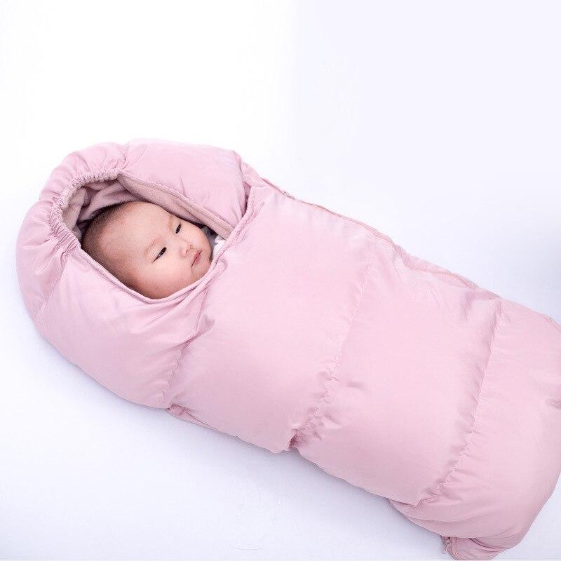 Hot Sale Winter Baby Sleepsacks  45cm*90cm Pink Blue Warm Sleeping Bag Stroller Footmuff Baby Envelope For Newborn
