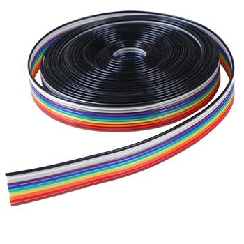 5 metrów partia kabel taśmowy 10WAY płaski kolor Rainbow kabel taśmowy drutu Rainbow kabel 10P kabel taśmowy 28AWG tanie i dobre opinie 10 WAY Flat Cable Tinned copper