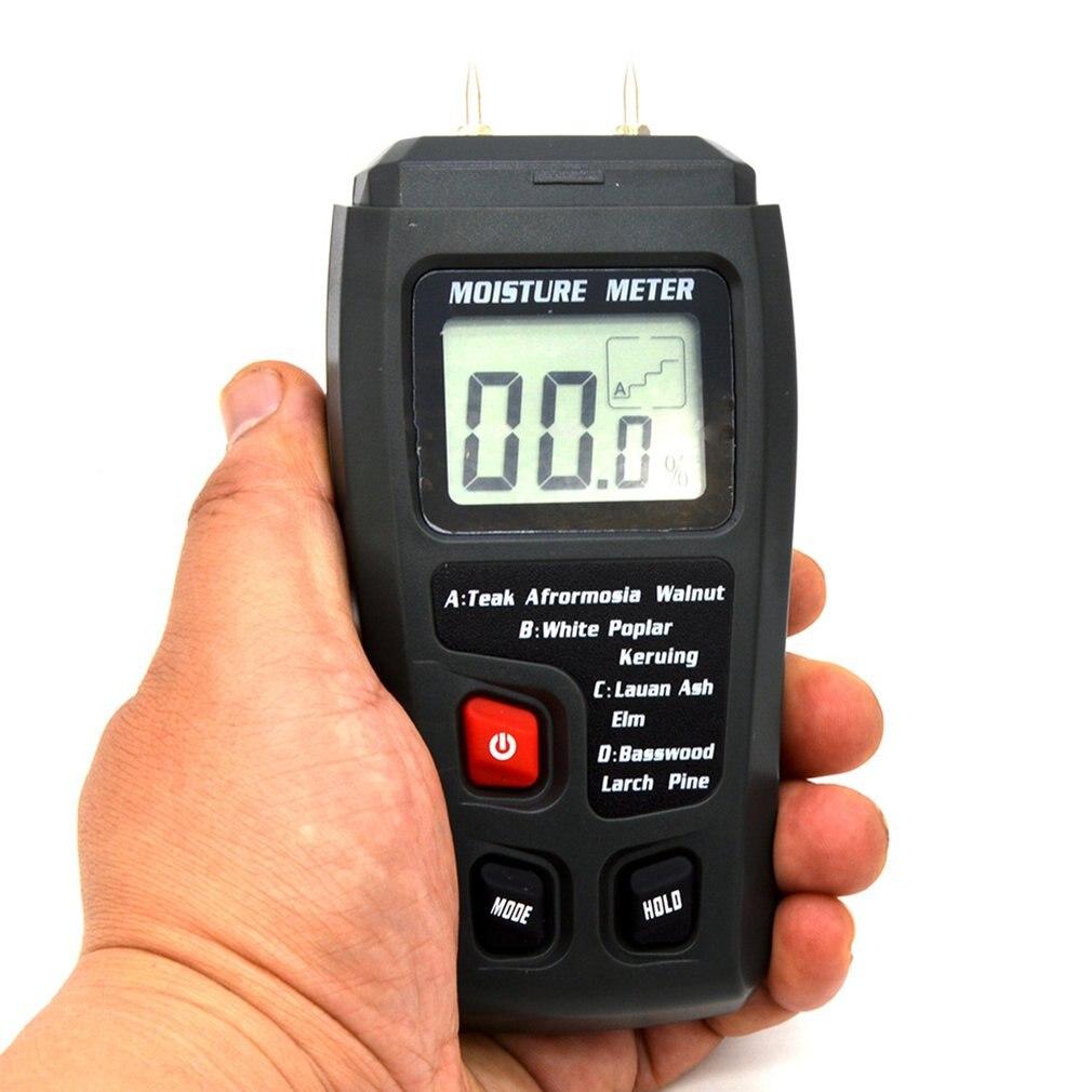 Новый цифровой ЖК дисплей измеритель влажности древесины +/ 0.5% точность 2 Pin измеритель влажности Портативный тестер/детектор влажности сен...