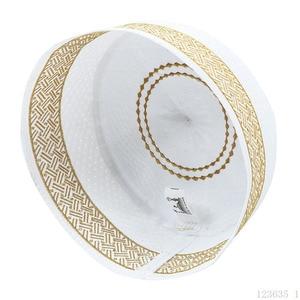 Image 1 - Lo último en sombreros de oración de Musulman Yellow Hui para hombre, sombrero de la semana, sombrero musulmán islámico, gorros de hombre, accesorios de ropa de la nación al por mayor