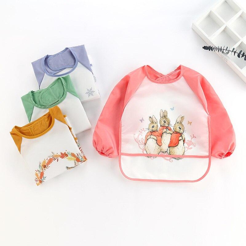 Imebaby Children Eating Long-sleeved Apron Bib Baby EVA Soft Waterproof Cartoon Anti-wear Anti-dirty Clothes