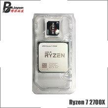 AMD Ryzen 7 2700X R7 2700X 3.7 GHz ثماني النواة سينتين الموضوع معالج وحدة المعالجة المركزية L2 = 4 متر L3 = 16 متر 105 واط YD270XBGM88AF المقبس AM4