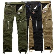 New men's large size military pants multi-pocket l