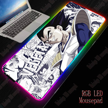 XGZ Japan Anime RGB Gaming Large Mouse Pad Gamer Led Computer Mousepad Big Mouse Mat With Backlight Carpet For Keyboard Desk Mat