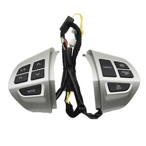 Interruptor do volante de controle cruzeiro do telefone bluetooth para mitsubishi lancer ex 10 lancer x outlander asx colt pajero esporte