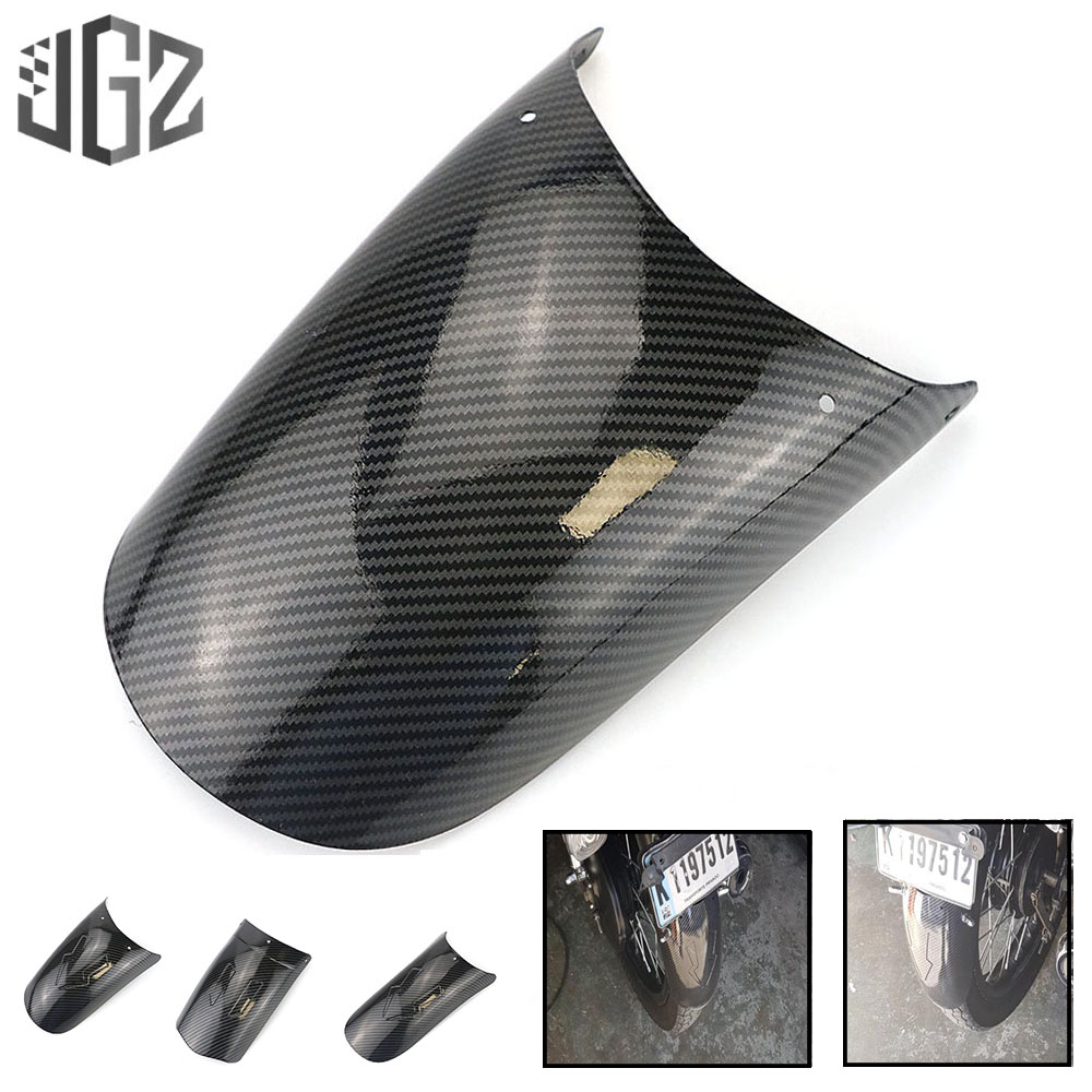 Motorcycle Universal Carbon Front Rear Mudguards Splash Extension Pad Wheel Fenders For Honda Yamaha Chopper Scooter Dirt Bikes
