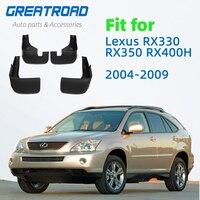 Front Rear Car Mud Flaps For Lexus RX330 RX350 RX400H 2004-2009 Mudflaps Mudguards Splash Guard for Fender Accessories