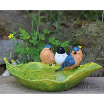 1pc Birds Feeder Bird Feeder Bath Bowls Birdfeeder for Outdoor Garden Decor with 3 Birds birdfeeder guide