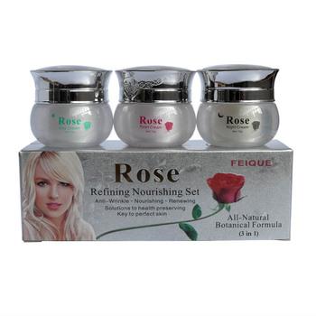 Rose rafination odżywczy przeciwzmarszczkowy odnawiający 3 w 1 krem wybielający do twarzy tanie i dobre opinie Kobiet Face 15g+15g+15g Zestaw 3pcs cream in 1 box Chiny Rehabilitation Therapy Supplies Healthcare