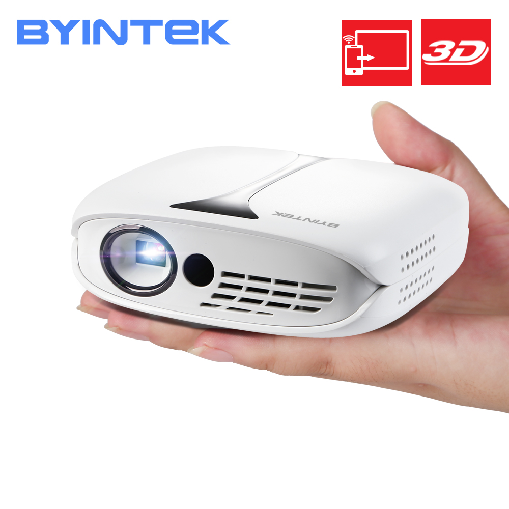 BYINTEK UFO R7 Cheapest 3D Projector ,DLP Mobile WIFI Pocket HD Portable Mini LED Projector with Battery for Iphone Smartphone Проектор
