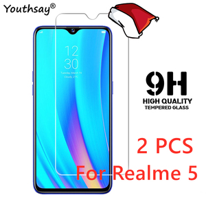 2PCS For OPPO Realme 5 Glass Screen Protector Tempered Glass For Realme 6 Pro 5 X50 XT X2 5i Glass For Realme 5 Phone Film(China)