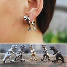 Modne kolczyki Stereo małe zwierzę dinozaur moda osobowość Piercing kolczyki do uszu kolczyki dla kobiet 2020 tanie tanio Ze stopu aluminium ze stopu aluminium CN (pochodzenie) Stadniny kolczyki Zwierząt Kobiety TRENDY Metal jewelry earrings