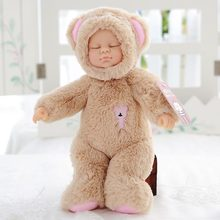 Cute Plush Toys Reborn Doll Simulation Doll Lifelike Rabbit Baby Sleeping Appease Doll Kids Birthday Xmas Gift Girl Room Decor