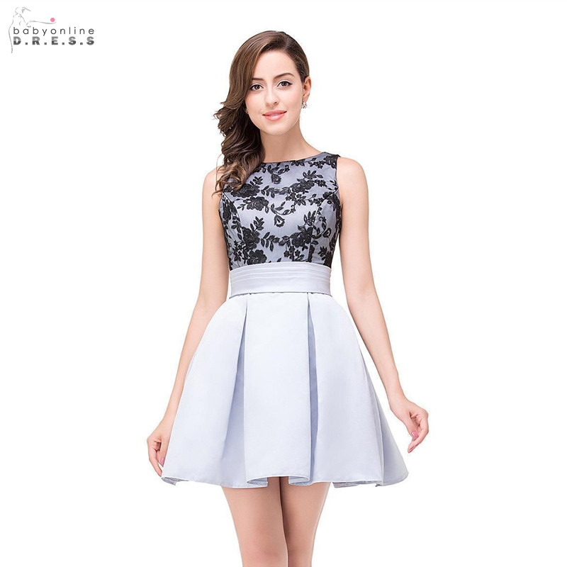 24 Hours Shipping Silver Mini Lace Cocktail Dresses Sexy Backless Draped Party Dresses Vestidos Coctel Robe De Cocktail