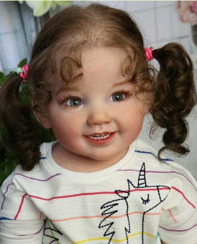 28 polegada kit boneca renascer cammi doce bebê enorme bebê criança toque macio cor fresca