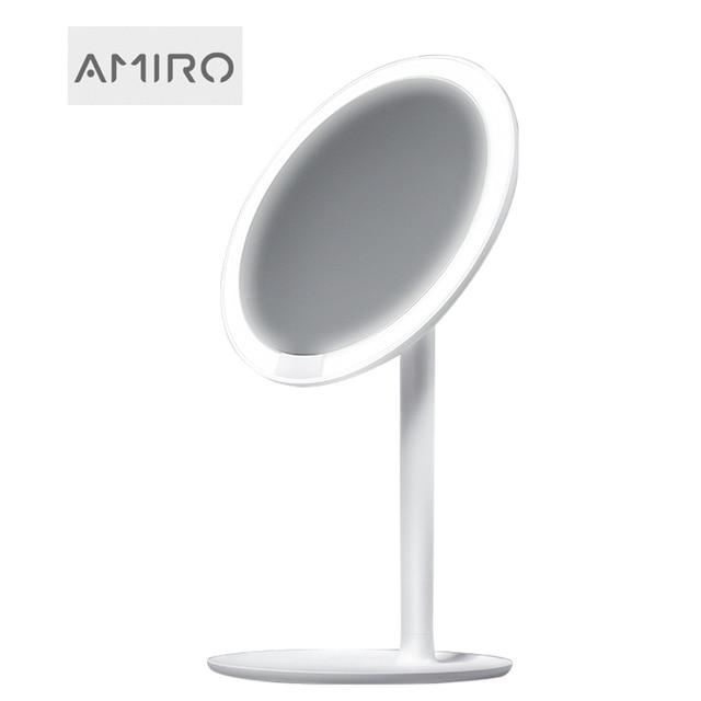 AMIRO HD Makeup Mirror Daylight Mirror Vanity Make up Mirrors Lamp USB Charging Lights Health Beauty Adjustable