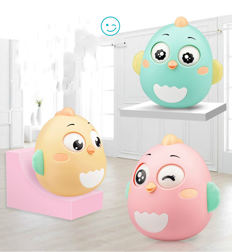 Baby Newborn Toys Nodding Tumbler Toys For Kid Ring Bell Cute Roly-poly Educational Rattle Baby Development Toys