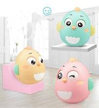 Bebé recién nacido juguetes asintiendo con la cabeza vaso juguetes para chico anillo de Bell lindo Roly poly educativo sonajero desarrollo del bebé juguetes