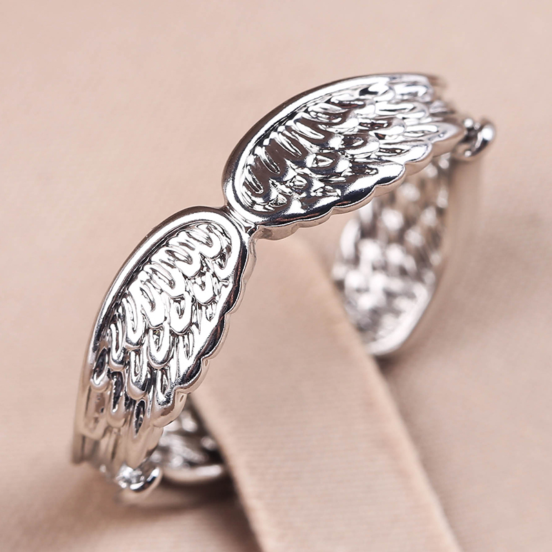 Exclusive Silver Plated Angel Wings Ring For Men Women Gothic Steampunk Party Anniversary Ring Adult Unisex Jewelry Gift H4T739 5