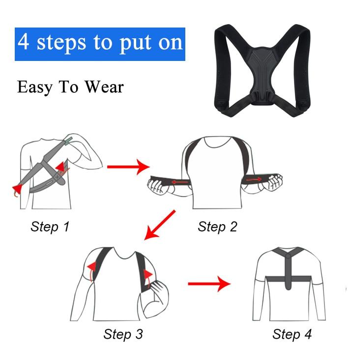 Corrector de postura para la espalda y la espalda