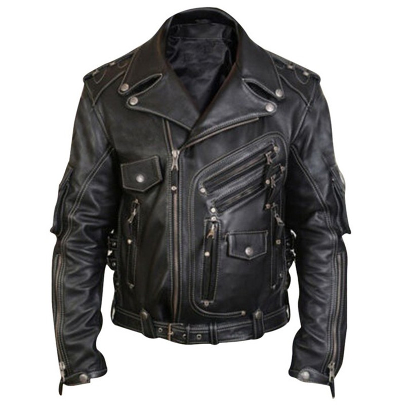 Mens Faux PU Leather Jackets Brand High Quality Vintage Motorcycle Biker Jacket Coat Male Big Plus Size 5XL Casual Black Men Top