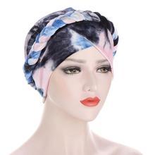 2020 New Women Braid Velvet Turban Hat Muslim Headscarf Bonnet Winter Turbante Mujer Hair Accessories Indian Cap Chemo Headwear