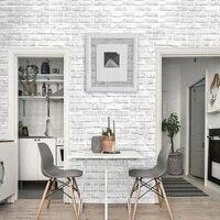 Wohnkultur 3D Tapete PVC Weiße Ziegel Wand Aufkleber Papier Selbst-Adhesive Möbel Badezimmer Wohnzimmer Küche Tapete