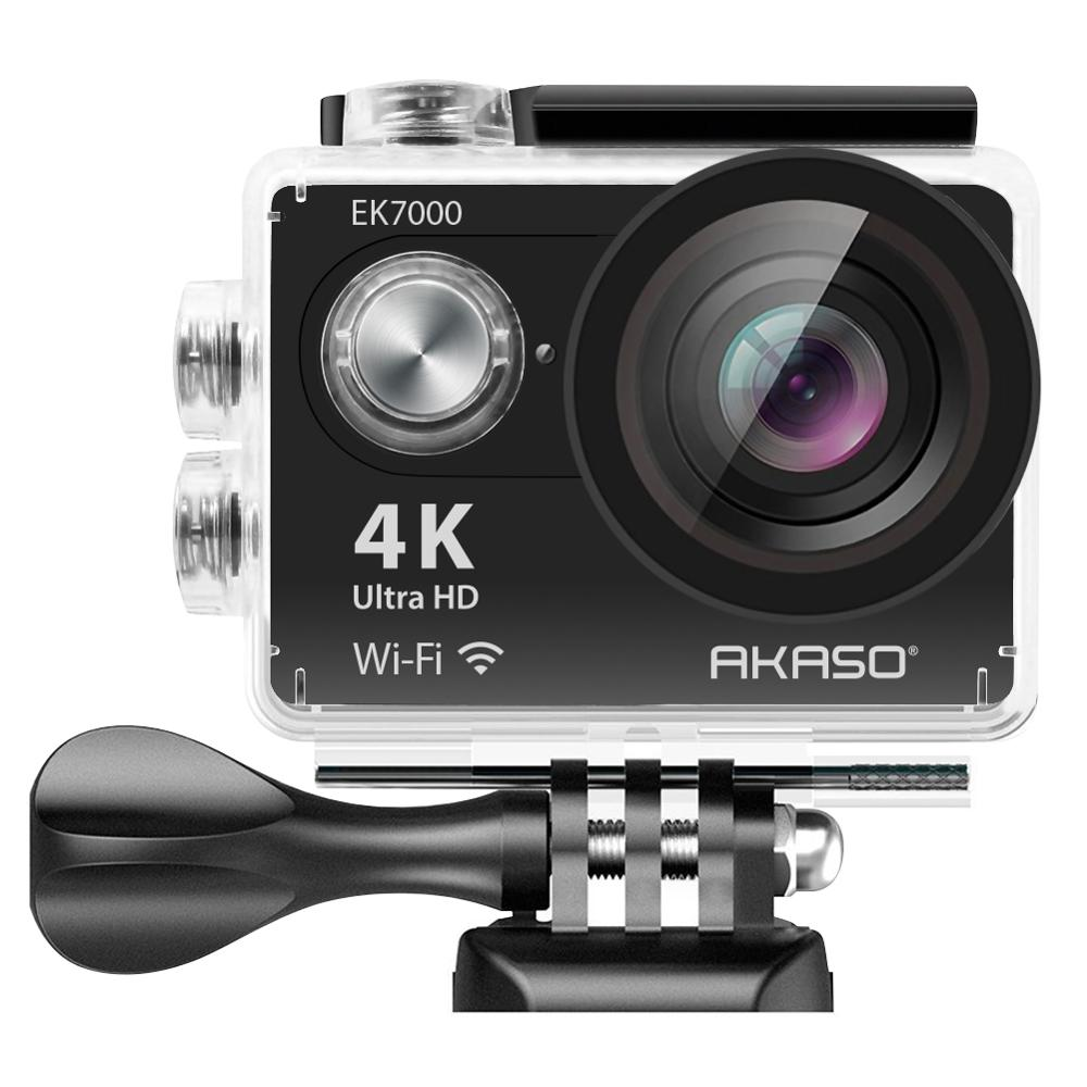 AKASO HD Action Camera EK7000 4k Underwater Waterpoof Sports Camera WIFI Outdoor Video Extreme Sports Helmet 12MP Diving Camera in Sports Action Video Camera from Consumer Electronics
