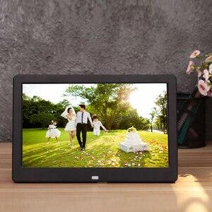 Цифровая фоторамка с LED подсветкой, электронный фотоальбом, HD дисплей 10 дюймов, разрешение 1024х600, воспроизведение музыки и видео, хороший подарок, новинка