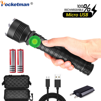 Powerful LED Flashlight XHP70.2 USB Flashlight Zoom LED Torch XHP70 XHP50 Flashlight Rechargeable with 18650 Battery super bright led flashlight xhp50 2 powerful linterna usb zoom led torch xhp50 18650 rechargeable battery