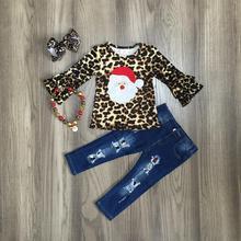 Girls Leopard Jeans Set