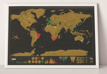 Deluxe Erase World Travel Map Scratch Off For Map42*30cm Room Home Office Decoration Wall Stickers