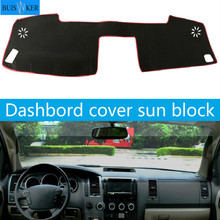 Car Dashboard Cover Mat Pad Sun Shade Instrument Carpet Accessories For Toyota Tundra Sequoia 2008 2009 2010 2011 2012 2013 2014