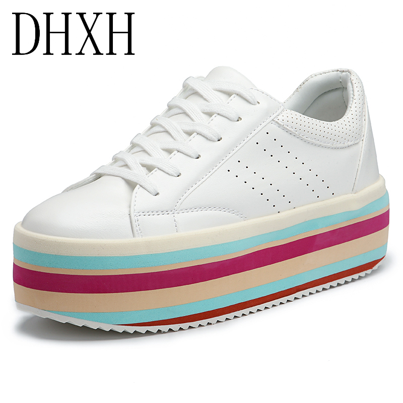 Women's Casual Shoes Winter Leather Boots Muffin Platform Outdoor Sports High Heels Height Increase Ankle Shoes Warm Sneakers
