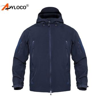Men Military Jacket Coat Waterproof Army Airsoft Tactical Jacket Winter Softshell Outdoor Windbreaker Hunt Hiking Jacket Hood