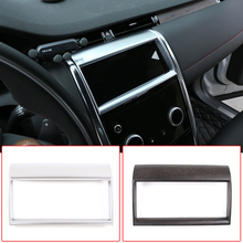for land rover discovery 3 lr3 2005 2009 rear trunk cargo cover security shield screen shade high qualit car accessories Car Center Console Navigation Screen Frame Cover ABS Carbon Fiber For Land Rover Discovery Sport 2020 Auto Accessories Interior