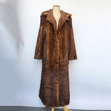 TOPFUR 2019 New Type Real Mink Fur Coat Women 120 CM Plus Long Natural Outwear With Turn-down Collar Jacket