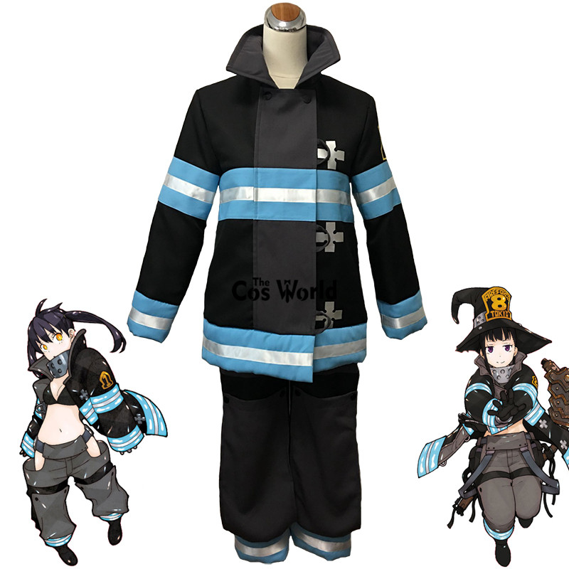 Fire Force Enen No Shouboutai Tamaki Kotatsu Shinra Kusakabe Takehisa Hinawa Firefighter Uniform Anime Cosplay Costumes