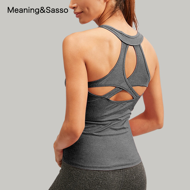 Women Yoga Shirt Backless Sleeveless Female Shirts Quick-Dry Sports Vest Breathable Womens Sportswear yoga Fitness Workout Tops 2
