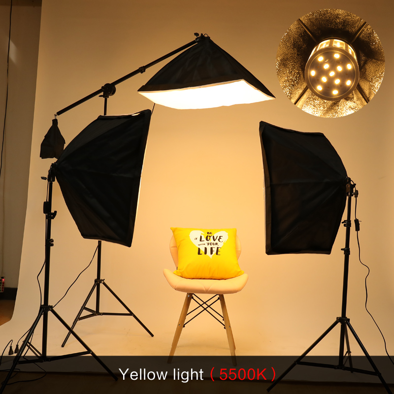 Image 4 - Photography Studio Softbox Lighting Kit Arm for Video & YouTube Continuous Lighting Professional Lighting Set Photo Studio-in Photo Studio Accessories from Consumer Electronics