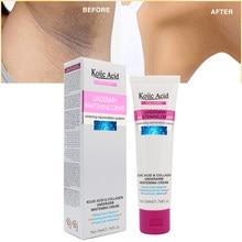 50ml ácido kojic mulher axila clareamento creme axilas parte privada mamilo cuidados com a pele creme de reparação do corpo axilas