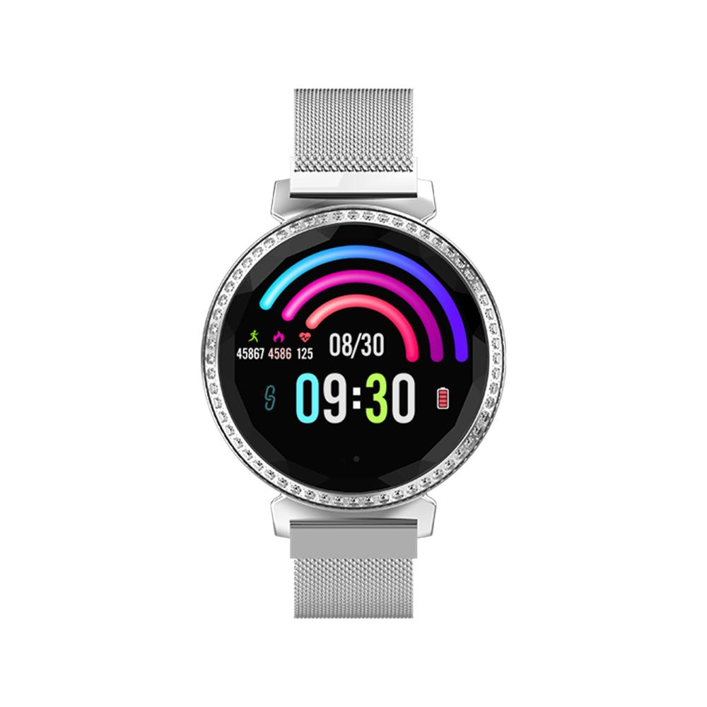 New Bluetooth Fitness Tracker With Touch Screen Women's Smart Watch  Waterproof Call Reminder With Blood Pressure Sleep Activity