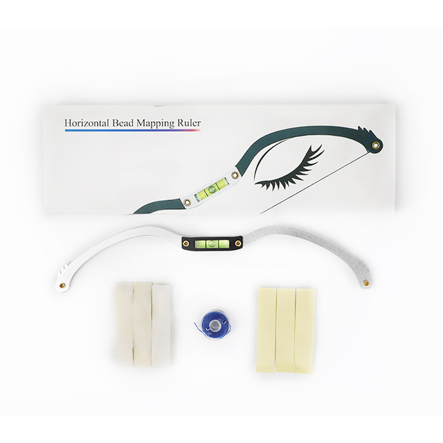Measuring Microblading Eyebrow Mapping Tool Practice Permanent Makeup With Thread Marker String Ruler Home Salon Level Pre-inked 1