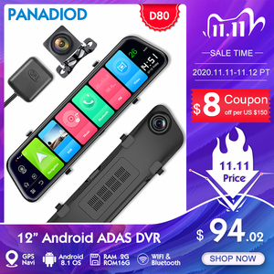 Image 1 - Автомобильный видеорегистратор, 4G, GPS навигация, 12 дюймов, ADAS, видеорегистратор, Android, FHD, видеорегистратор, зеркало заднего вида, ночное видение, для автомобиля, видео