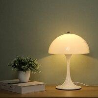 Lampada da tavolo moderna a fungo da scrivania lampada da tavolo bianca lampada da tavolo soggiorno lampada da camera da letto lampada da comodino lampade decorative
