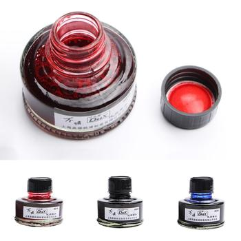 50ML Smooth Writing Fountain Pen Ink Glass Bottle Student School Office Supplies new smooth writing fountain pen ink refill bottled glass pen ink school student stationery office supplies