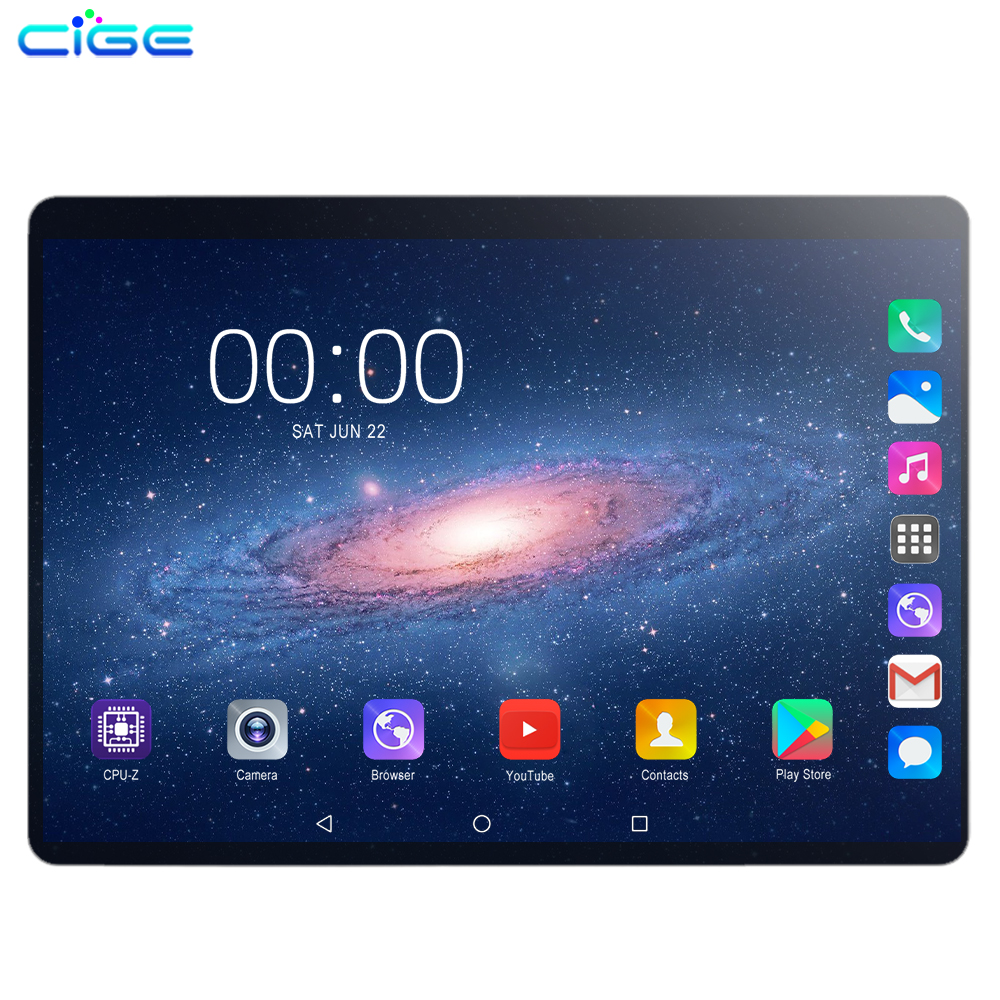 Android Tablet 10.1 Inch 6GB 128GB ROM Tablets Android 9.0 Octa Core WiFi HD IPS Screen 2.0MP+8.0MP Camera Tablets PC Phone Call