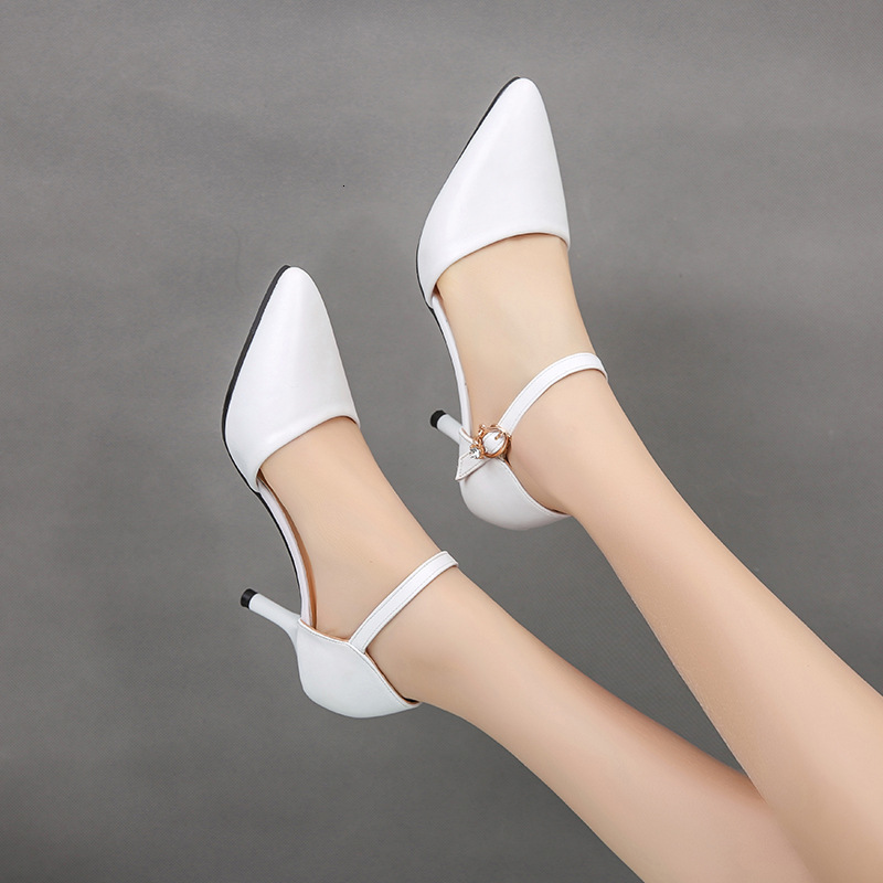 Marderee Free Shipping 2019 Brand New Summer White Black Women Glamour Sandals Sexy Gladiator Heels Ladies Nude Shoes